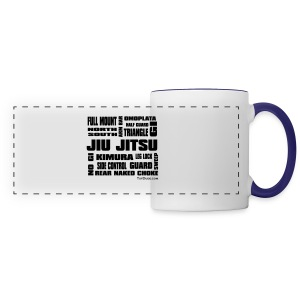 Jiu Jitsu Terminology white mug - Panoramic Mug