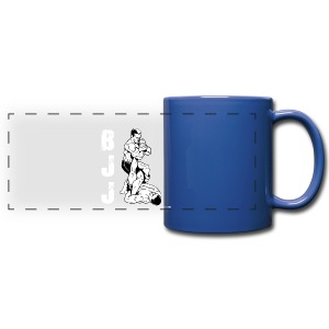 BJJ leg lock 2 blue mug - Full Color Panoramic Mug