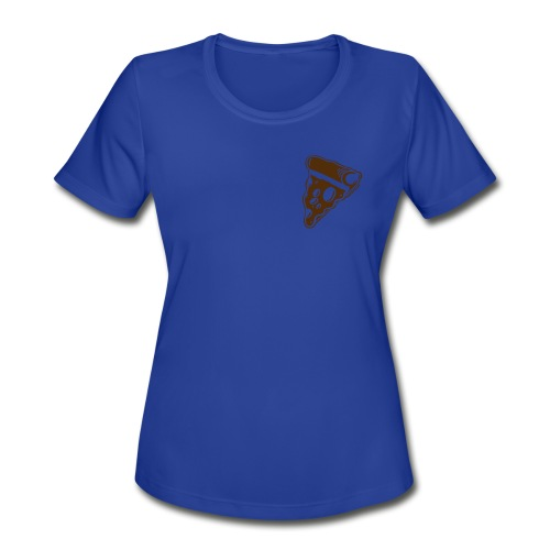 Falling pizza Girl - Women's Moisture Wicking Performance T-Shirt