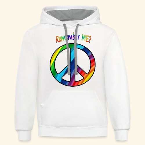 remember me - Peace Sign  - Contrast Hoodie