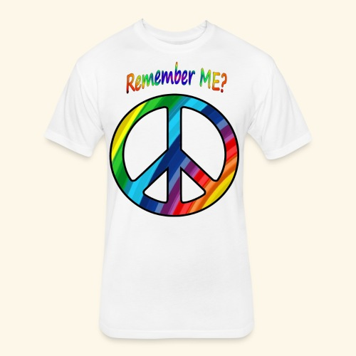 remember me - Peace Sign  - Fitted Cotton/Poly T-Shirt by Next Level