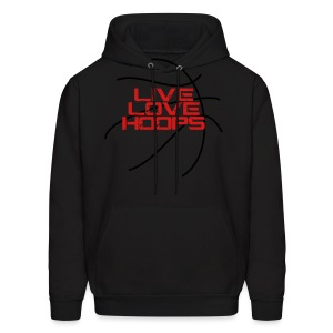 Live Love Hoops elite basketball player trainer t-shirt  - Men's Hoodie