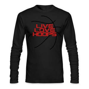 Live Love Hoops elite basketball player trainer t-shirt  - Men's Long Sleeve T-Shirt by Next Level