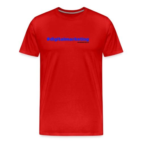 Digital Marketing Hashtag - Red Shirt - Men's Premium T-Shirt