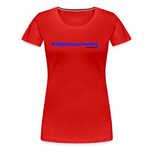 Digital Marketing Hashtag - Red Shirt - Women's Premium T-Shirt