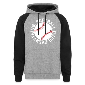 softball over everything elite player game day fan shirt - Colorblock Hoodie