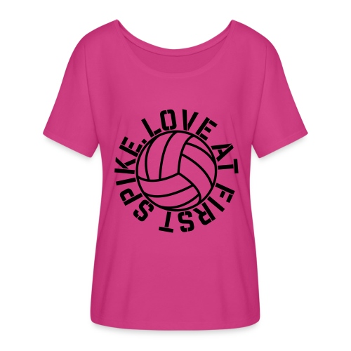 Love at first Spike Volleyball elite player trainer t-shirt  - Women's Flowy T-Shirt