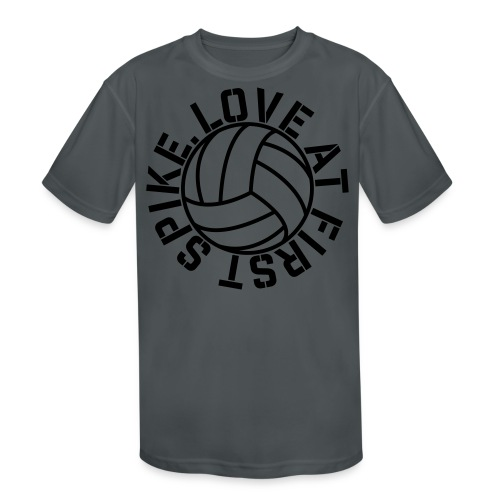 Love at first Spike Volleyball elite player trainer t-shirt  - Kid's Moisture Wicking Performance T-Shirt