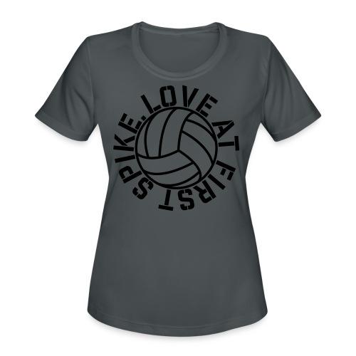 Love at first Spike Volleyball elite player trainer t-shirt  - Women's Moisture Wicking Performance T-Shirt