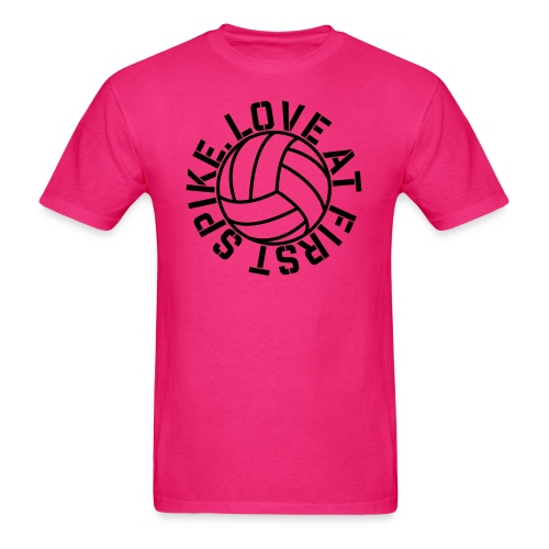 Love at first Spike Volleyball elite player trainer t-shirt  - Men's T-Shirt