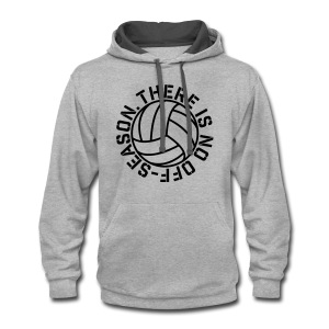 There is No Off-Season Volleyball elite player trainer t-shirt  - Contrast Hoodie