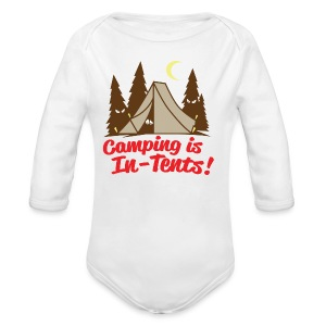 Camping Is In-Tents - Long Sleeve Baby Bodysuit