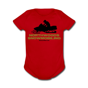 Northwoods Snowmobiling - Short Sleeve Baby Bodysuit