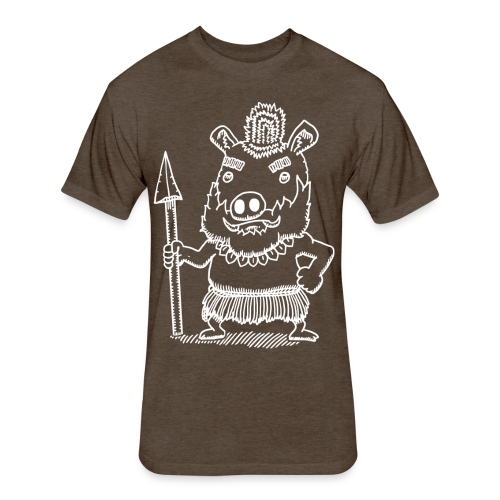 Antonio the Tribal Adventurer - Fitted Cotton/Poly T-Shirt by Next Level
