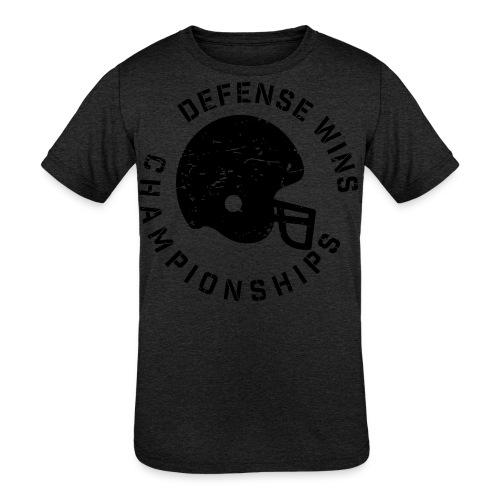 Defense Wins Championships Football elite team shirt - Kids' Tri-Blend T-Shirt