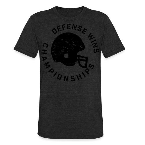 Defense Wins Championships Football elite team shirt - Unisex Tri-Blend T-Shirt