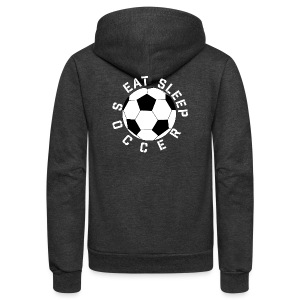 Eat Sleep Soccer elite team player shirt - Unisex Fleece Zip Hoodie