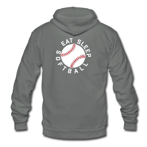 eat sleep softball elite player team training shirt - Unisex Fleece Zip Hoodie