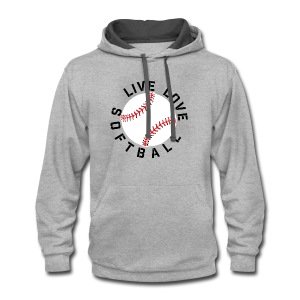 live love softball elite player team training shirt - Contrast Hoodie