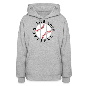 live love softball elite player team training shirt - Women's Hoodie