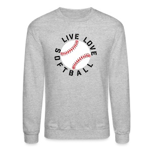 live love softball elite player team training shirt - Crewneck Sweatshirt