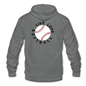 live love softball elite player team training shirt - Unisex Fleece Zip Hoodie
