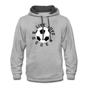 Live Love Soccer elite team player shirt - Contrast Hoodie