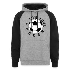 Live Love Soccer elite team player shirt - Colorblock Hoodie