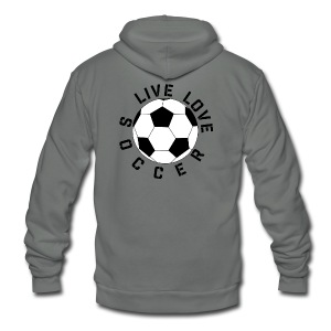 Live Love Soccer elite team player shirt - Unisex Fleece Zip Hoodie