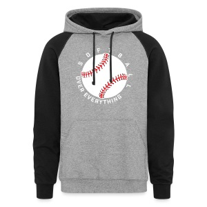 Softball Over Everything elite player team training shirt - Colorblock Hoodie
