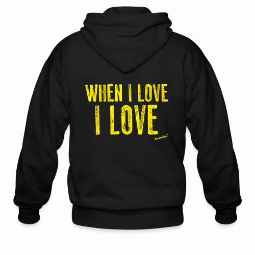 When I love I love by Francisco Evans ™ - Men's Zip Hoodie