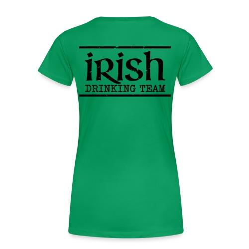 Irish Drinking Team shirt - Women's Premium T-Shirt