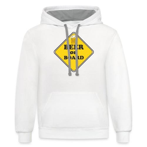 Beer on Board - Contrast Hoodie