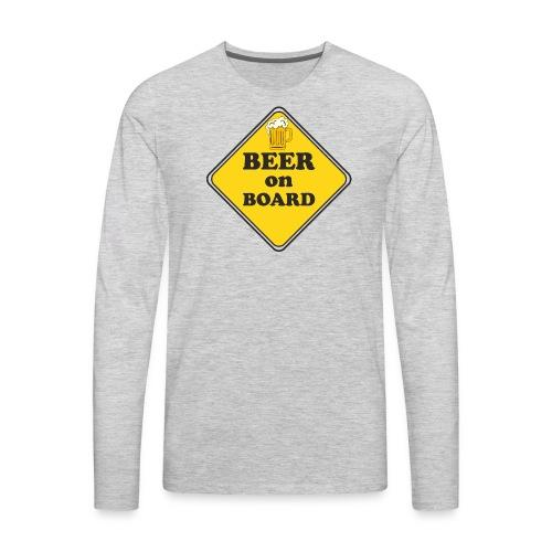 Beer on Board - Men's Premium Long Sleeve T-Shirt