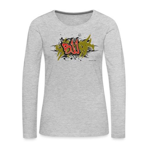 Jiu Jitsu - BJJ Graffiti Women's Tank Top - Women's Premium Long Sleeve T-Shirt