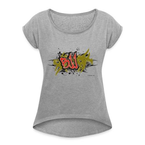 Jiu Jitsu - BJJ Graffiti Women's Tank Top - Women's Roll Cuff T-Shirt