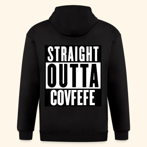 straight outta covfefe  - Men's Zip Hoodie