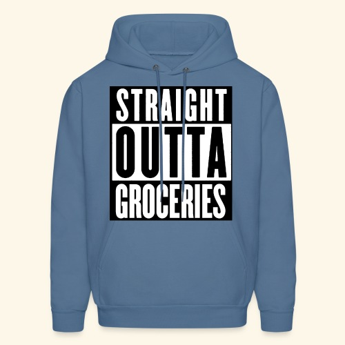straight outta groceries  - Men's Hoodie