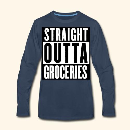 straight outta groceries  - Men's Premium Long Sleeve T-Shirt