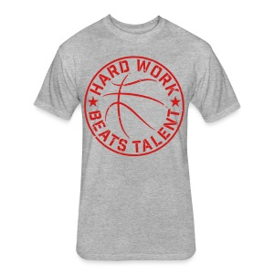 Basketball Hard Work Beats Talent training shirt - Fitted Cotton/Poly T-Shirt by Next Level