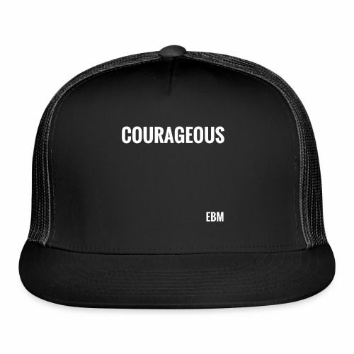Courageous Black Male Empowerment Slogan Quotes T-shirt Clothing by Stephanie Lahart | Fearless Black Males | Black Power  - Trucker Cap