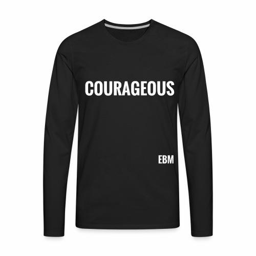 Courageous Black Males Black Men's T-shirt Clothing by Stephanie Lahart. - Men's Premium Long Sleeve T-Shirt