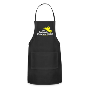 If It Snows - Metalic Gold - Adjustable Apron