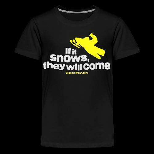 If It Snows - Metalic Gold - Kids' Premium T-Shirt