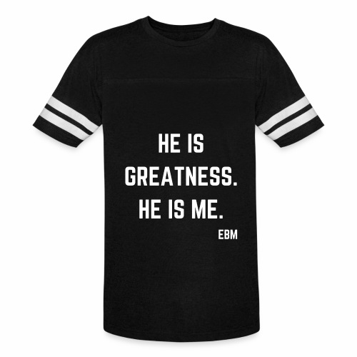 He is GREATNESS He is Me Black Men's Empowerment T-shirt Clothing by Stephanie Lahart - Vintage Sport T-Shirt