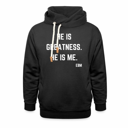 He is GREATNESS He is Me Black Men's Empowerment T-shirt Clothing by Stephanie Lahart - Shawl Collar Hoodie