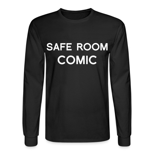 Safe Room Comic - Cake - Men's Long Sleeve T-Shirt