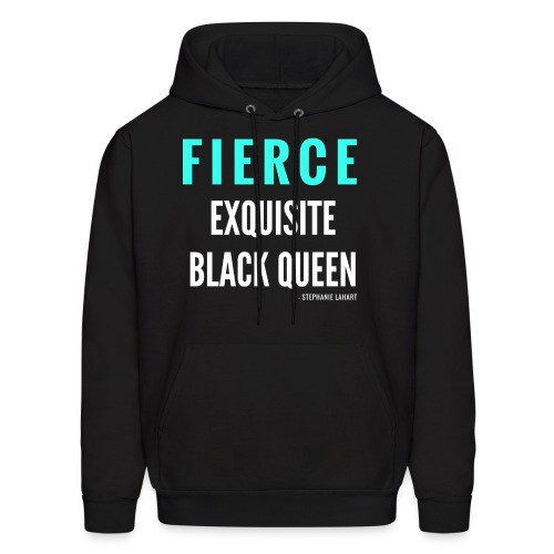 Fierce Exquisite Black Queen Black Woman Women's T-shirt Clothing by Stephanie Lahart. - Men's Hoodie