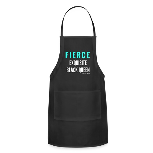 Fierce Exquisite Black Queen Black Woman Women's T-shirt Clothing by Stephanie Lahart. - Adjustable Apron