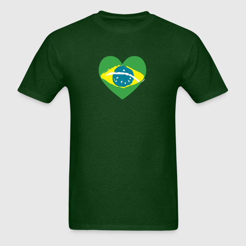 Brazil Heart T-Shirts - Men's T-Shirt
